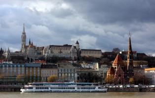 Budapest Winter Buda Castle Hill