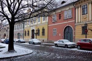 Budapest Buda Castle Snow