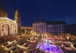 Budapest Christmas Market by Basilica