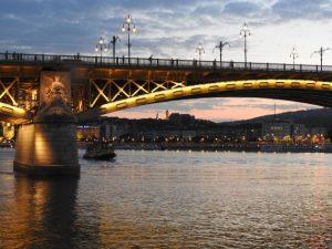 Evening Danube in Budapest